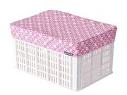 BASIL Crate/Basket cover  Pink Blossom click to zoom image