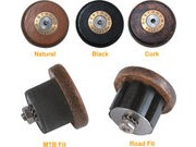 GILLES BERTHOUD Leather handlebar end plugs